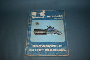 Kawasaki Intriguer Snowmobile SB440-A2 Shop Service RepairManual