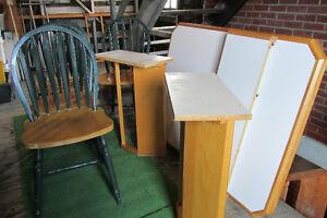 set de cuisine  en bois avec 4 chaises et 2 rallonges