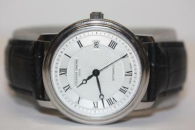 Frederique Constant Swiss Automatic 26 Jewel Watch Black Strap Skeleton Back