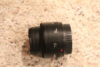 Canon EF 50mm f/1.8 II with filter