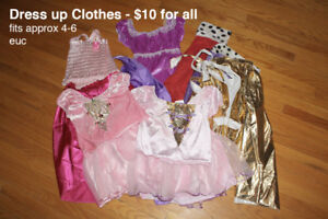 Dress up Clothes - girls size 4-6
