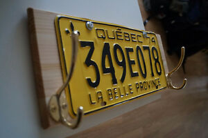 Clothes hanger with old QC car plate. Hand made! Gatineau Ottawa / Gatineau Area image 9