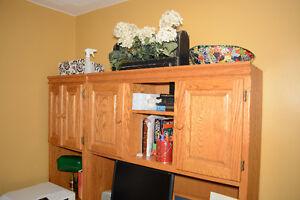 REDUCED - Solid Oak Desk Kitchener / Waterloo Kitchener Area image 3