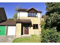 3 bed link detached house with garage