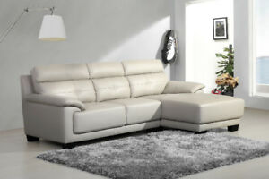 $$1299 Brand New Real Leather Sectional Couch
