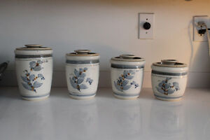 Handmade Stoneware Cannisters
