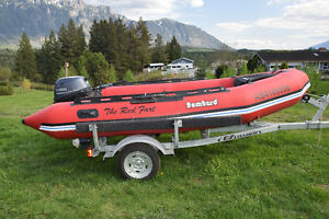 Inflatable Boat, Motor and Trailer