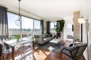 Mount Pleasant 1 bedroom fully furnished apartment with views