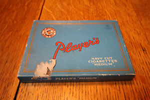 RARE VINTAGE PLAYERS CARDBOARD NAVY CUT MEDIUM PACK TIN