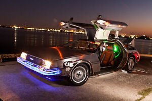 DeLorean DMC-12 Back to the Future Time Machine for Display