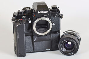 Nikon F3HP with MD4 Motor Drive , MF 6 film, Lens extra