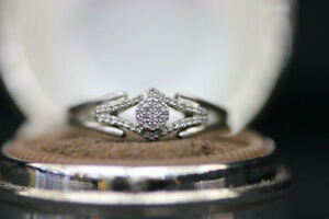 925 Silver Ladys Fashion Diamond Ring (#1846)