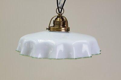 Schöne alte Jugendstil Lampe, Glas Hängelampe, Küchenlampe