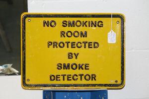 Plastic No Smoking Sign