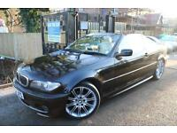 BMW 318i Sport Convertible Automatic Black Leather Seats Finance Available