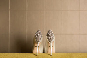 Wedding shoes - Size 8 BADGLEY MISCHKA Kiara Satin Platform Pump Cambridge Kitchener Area image 2