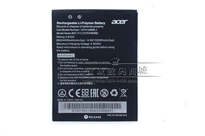 Original 3900mAh 3.8V Battery BAT-T11 ICP416888L1 For Acer Liquid Z630 Z630S