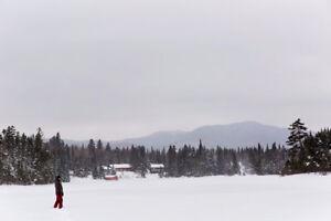 Disp Noel 22-29 dec, 4cc, foyer, bord de l'eau, Val-des-Lacs