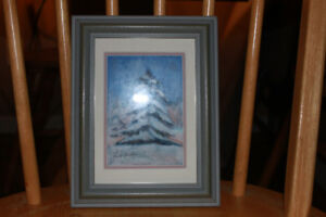 Small Pastel By Janet Garnhum Titled Winter Tree