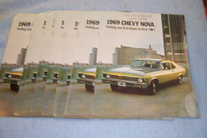 GM Dealer BrochureS, 69 Chevy Nova. Big Block Chevy Intake