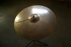 Vintage mid 70's Sabian 20'' ride with stand. $125 no trades