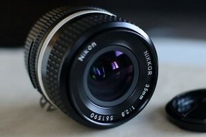 Nikon 35mm F2.8 AI-S Lens,  Super Sharp, with CP Filter