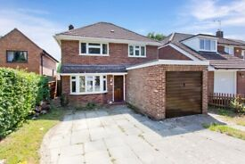 Detached 3 bedroom house. Large garden. Single garage. Drive with parking for 3 cars.