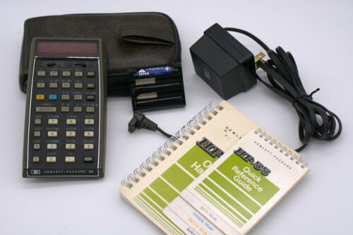 CLASSIC HP-55 PROGRAMMABLE SCIENTIFIC CALCULATOR, CHARGER, 2 MANUALS, & CASE