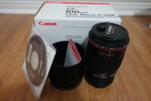Canon 100mm F2.8L IS USM Lens