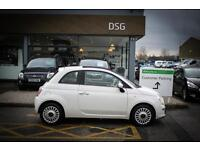 2014 63 FIAT 500 1.2 Lounge 3dr [Start Stop] in White