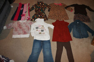 size 3 mixed lot girl's fall clothing