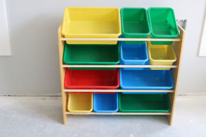 Kid Toy Organizer with Bins