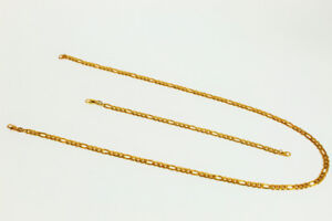 18K Gold PVD Figaro Cuban Chain Set