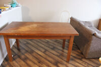 Large Wood Desk with DrawerI