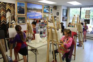 cours de peinture pour enfants de 8 a 14 ans