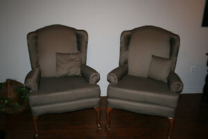 REDUCED - Wing Back Chairs