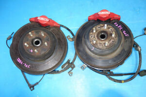 JDM Subaru WRX Rear 2 Pot Brake Calipers Spindle Hubs 1993-2007