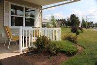 Front patio, private deck,  level entry and great location.