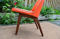 Chaise midcentury structure teck