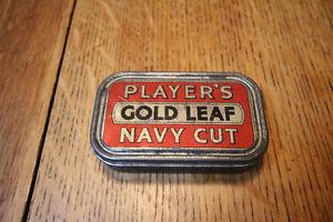 VINTAGE PLAYERS GOLD LEAF NAVY CUT CIGARETTE TIN