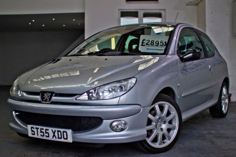 2006 peugeot 206 1 6 hdi gti diesel rare new mot half black grey leather 16 i in cardiff. Black Bedroom Furniture Sets. Home Design Ideas