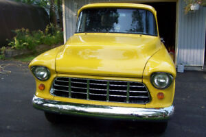 1957 CHEV-GMC trade???  ALMOST ROAD READY CHROME YELLOW 4 SPEED