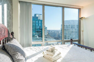 FURNISHED 1 BR Apartment for rent in the heart of Coal Harbour