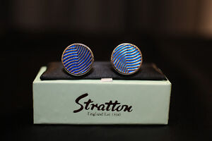 Men's Blue Cufflinks by Stratton of England,