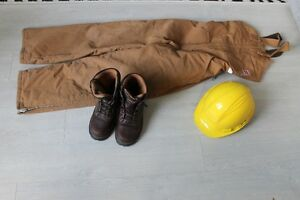 Winter Tough Duck overalls (Small) & CSA work boots (size 6.5)