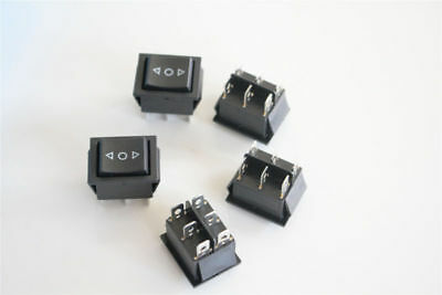 5x 3-position On-off-on Momentary Rocker Switch 6 Pins 16a 250v Ac