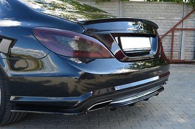 Diffusor ansatz schwarz Mercedes CLS W218 Heck Ansatz hinten DTM Splitter AMG 63