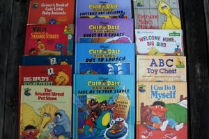 13 Sesame Street and Chip 'N' Dale Books