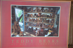 TEDDY BEAR FRAMED PHOTOGRAPH