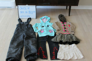 LOT OF GIRLS CLOTHES SIZE 4